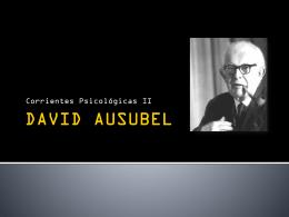 TEORÍA DEL APRENDIZAJE SIGNIFICATIVO DE DAVID AUSUBEL