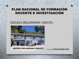 """IMPLICACIONES DEL PROCESO - Escuela Bolivariana """"Cacute"""""""