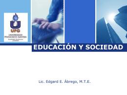 01 Educación y socialización