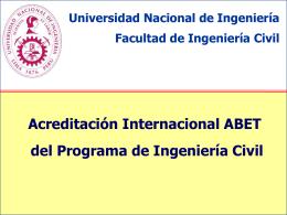 Competencias - Acreditación Internacional ABET de la Facultad de