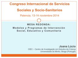 Congreso Internacional de Servicios Sociales y Socio