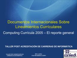 Visión de la ACM sobre el Currículo en Computación