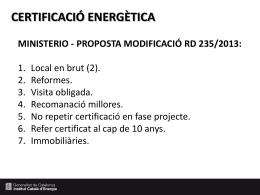 Cicle de debats sobre normativa en eficiència energètica