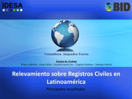 Relevamiento sobre Registros Civiles en