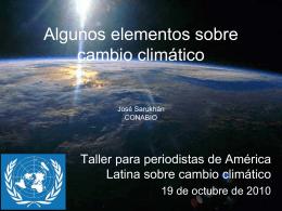 Algunos elementos sobre cambio climático ONU