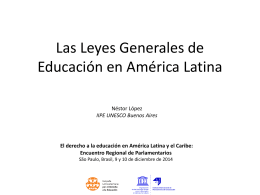 Presentación del estudio sobre Leyes Generales de Educación en