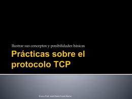 Presentación sobre el protocolo TCP