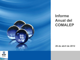 Informe Anual de la Secretaría del Convenio