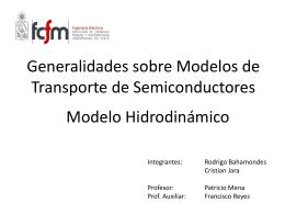 Generalidades sobre Modelos de Transporte de - U