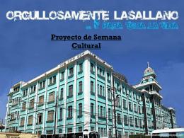 Proyecto de Semana Cultural - 2010-UESJLS