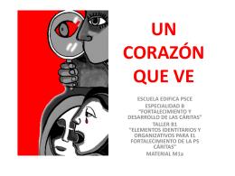 FORTALECIMIENTO Y DESARROLLO DE LAS CÁRITAS
