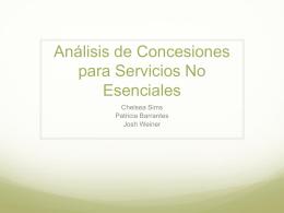 Analisís de Concesiones para Servicios No Esenciales