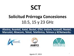 Solicitud Prórroga Concesiones 10.5, 15, 18 y 23 GHz