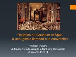 GaudiumetSpes - Arzobispado de la Santisima Concepción