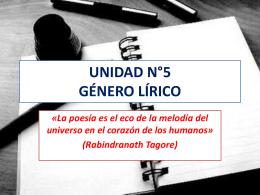 género lírico octavo - Liceo Bicentenario Talagante