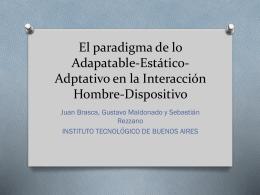 El paradigma de lo Adapatable-Estático-Adptativo en - itba