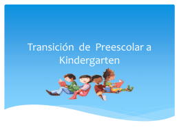 Transitioning from Preschool to Kindergarten