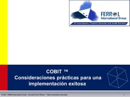 Aplicabilidad de COBIT en el sector Gobierno