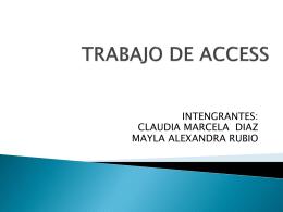 TRABAJO DE ACCESS