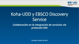 Koha-UDD y EBSCO Discovery Service