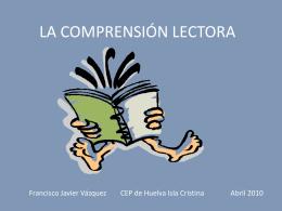 01. Comprensión Lectora. Fran Vázquez