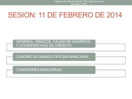 Bancos, Cajas y Cooperativas de Crédito.