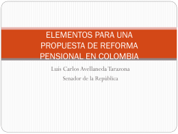 elementos para una propuesta de reforma pensional en colombia