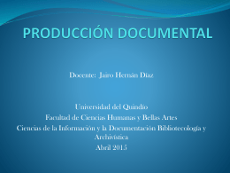 producción documental