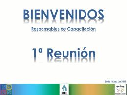 Presentación 1ra. reunión 2015