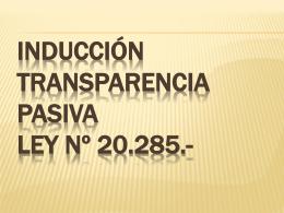 Inducción Transparencia Activa - Ilustre Municipalidad de Chillán