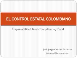 EL CONTROL ESTATAL COLOMBIANO
