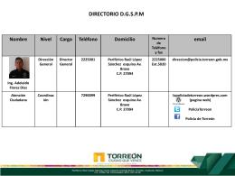 DIRECTORIO transp