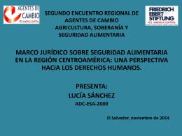 marco jurídico ssa - 2do encuentro regional de adc esa2014