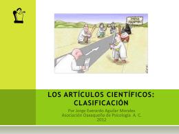 Los artículos científicos: clasificación