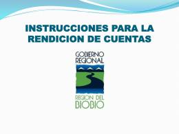 Instrucciones para Rendición de Cuentas Subvención Deportiva
