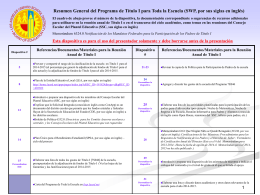 Programas para Toda la Escuela (SWP)