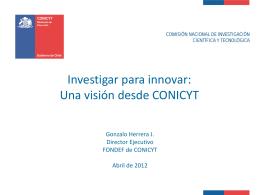Presentación de Gonzalo Herrera J.