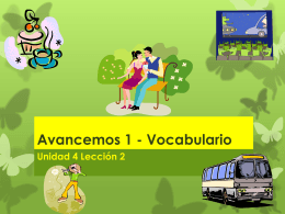 Avancemos 1 - Vocabulario
