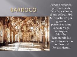 barroco - Colegio Entre Valles
