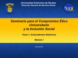Seminario Modulo I -Tema 1 Antecedentes Historicos