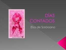 DÍAS CONTADOS - Elsa De Solorzano