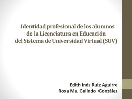 La construcción de la identidad profesional de los alumnos de la