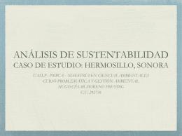 ANÁLISIS DE SUSTENTABILIDAD CASO DE