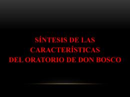 síntesis de las características del oratorio