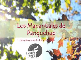 Presentación Campamento de Invierno Manantiales 2015 (PPT)