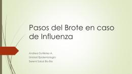 Pasos Brote Influenza - SEREMI de Salud Región del Biobío.