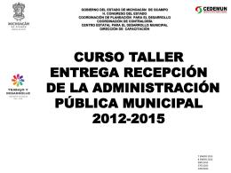 Programa - Auditoría Superior de Michoacán