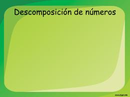 Clase 2 Cuarto -Descomposición por valor y lugar de posición