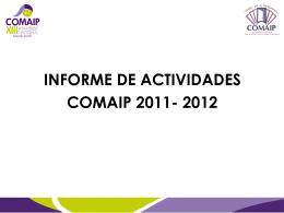 Informe correspondiente al período 2011-2012