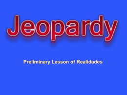 Preliminary Lesson of Realidades